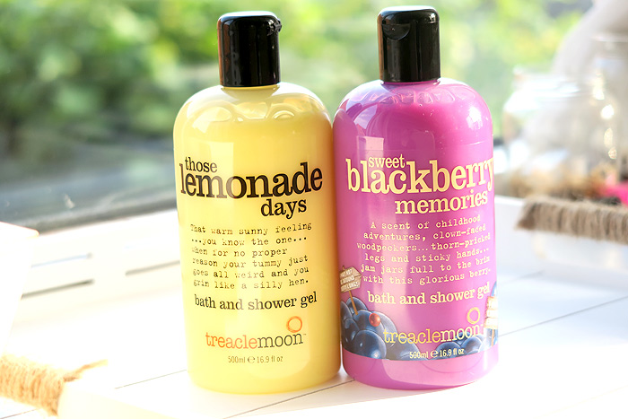 treacle moon bath and shower gel lemon and blackberry