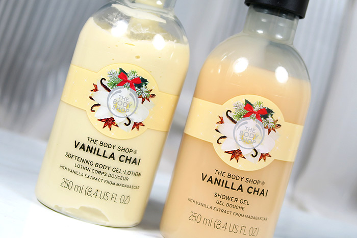 the body shop vanilla chai body lotion & shower gel