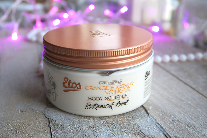 etos botanical boost orange blossom & ginger body souffle