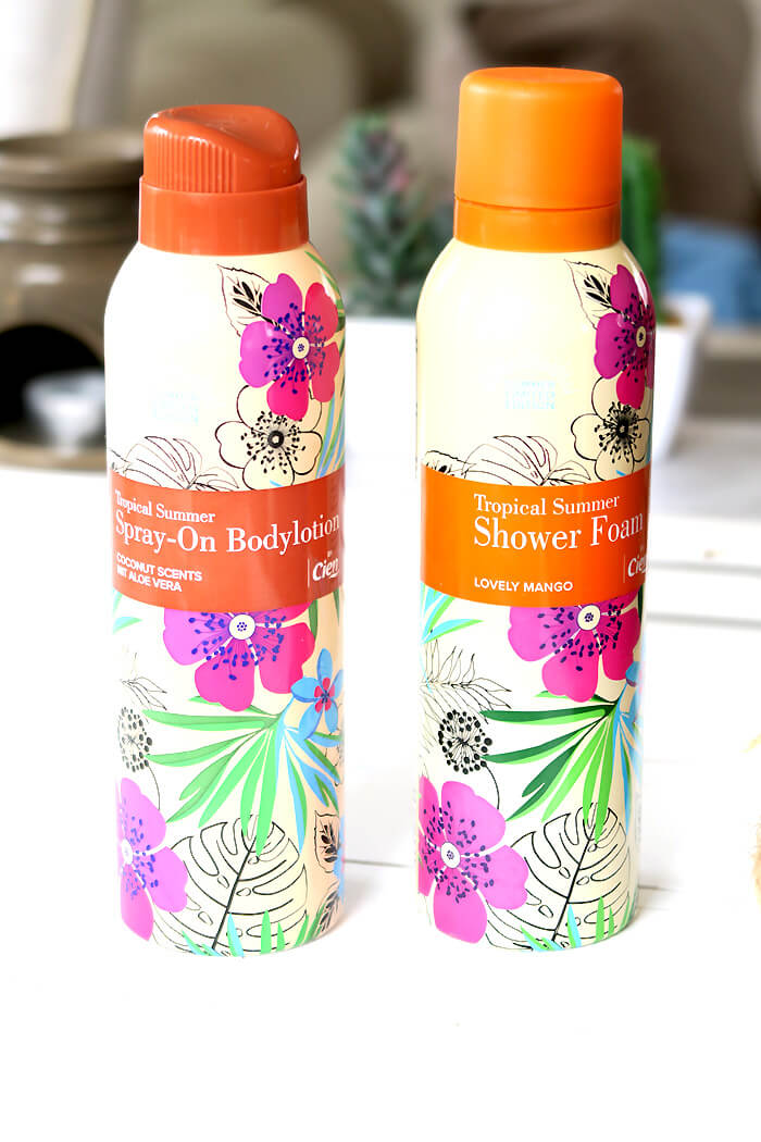 Lidl Cien Tropical Summer Shower foam & Spray-on bodylotion