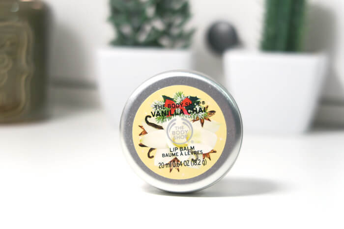 the body shop vanilla chai lip balsem