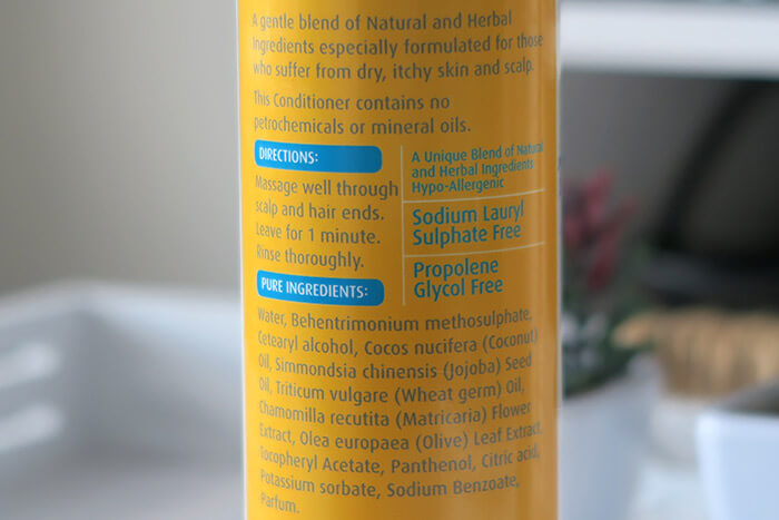grahams hair care ingredienten conditioner