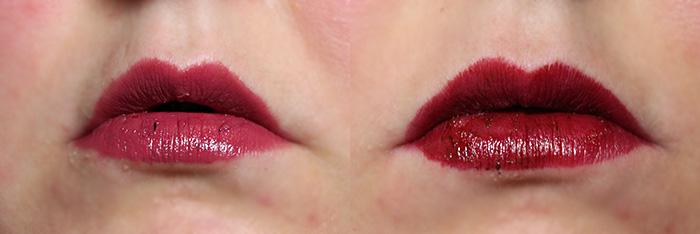 essence fancy blush & burgundy spirit lipstick swatches lip