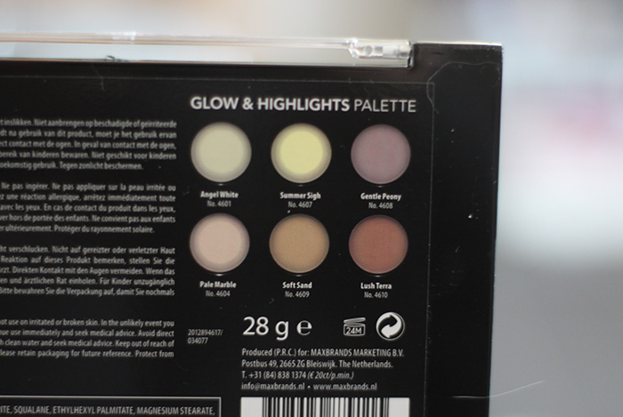 action glow & highlights palette
