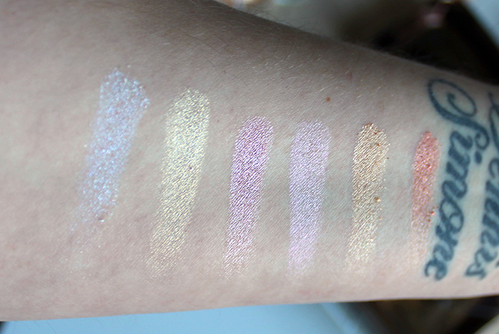 action glow & highlights palette swatches