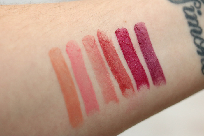 action kiss my perfect rosy lips lipsticks swatches