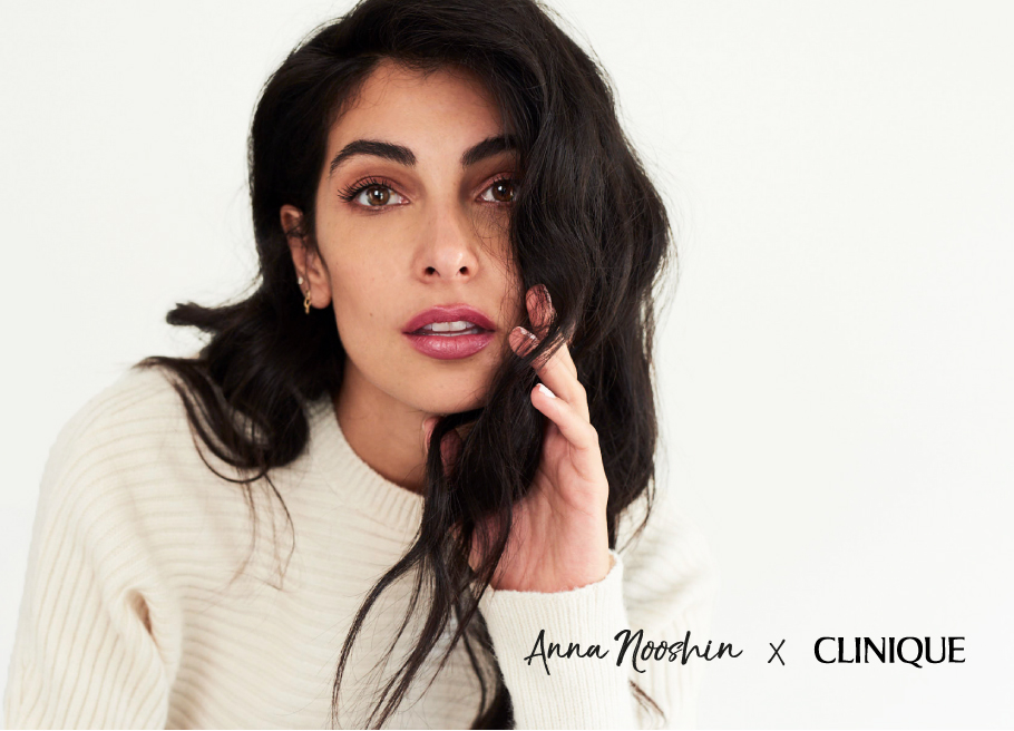 anna nooshin x clinique