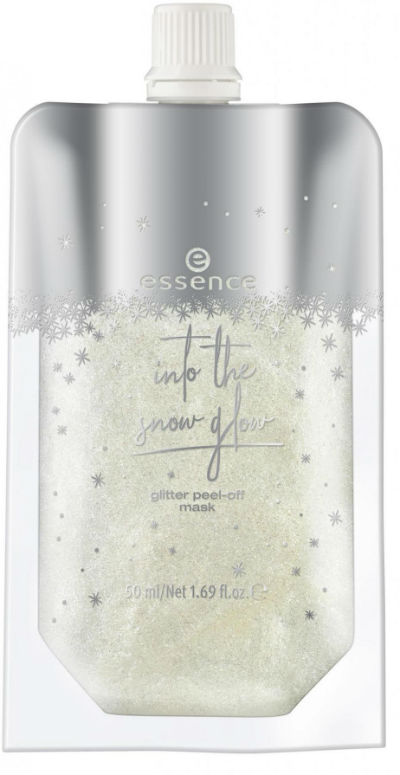 essence into the snow glow glitter peel off mask
