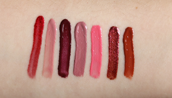 makeup revolution liquid lipstick lipgloss lip advent calendar swatches