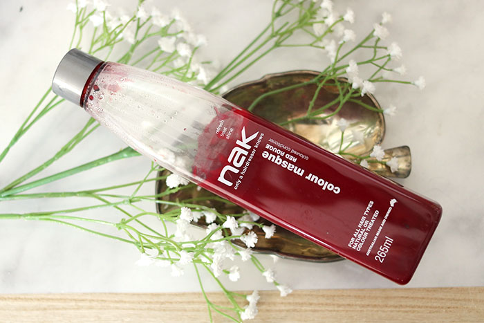 NAK colour masque Red Rouge coloured conditioner