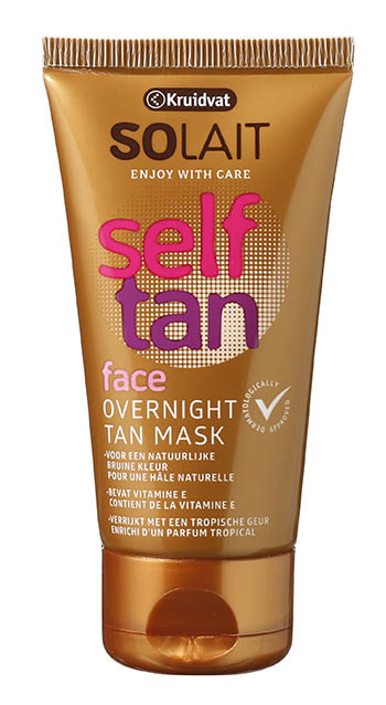 Solait Self Tan Face Overnight Tan Mask - tube Kruidvat