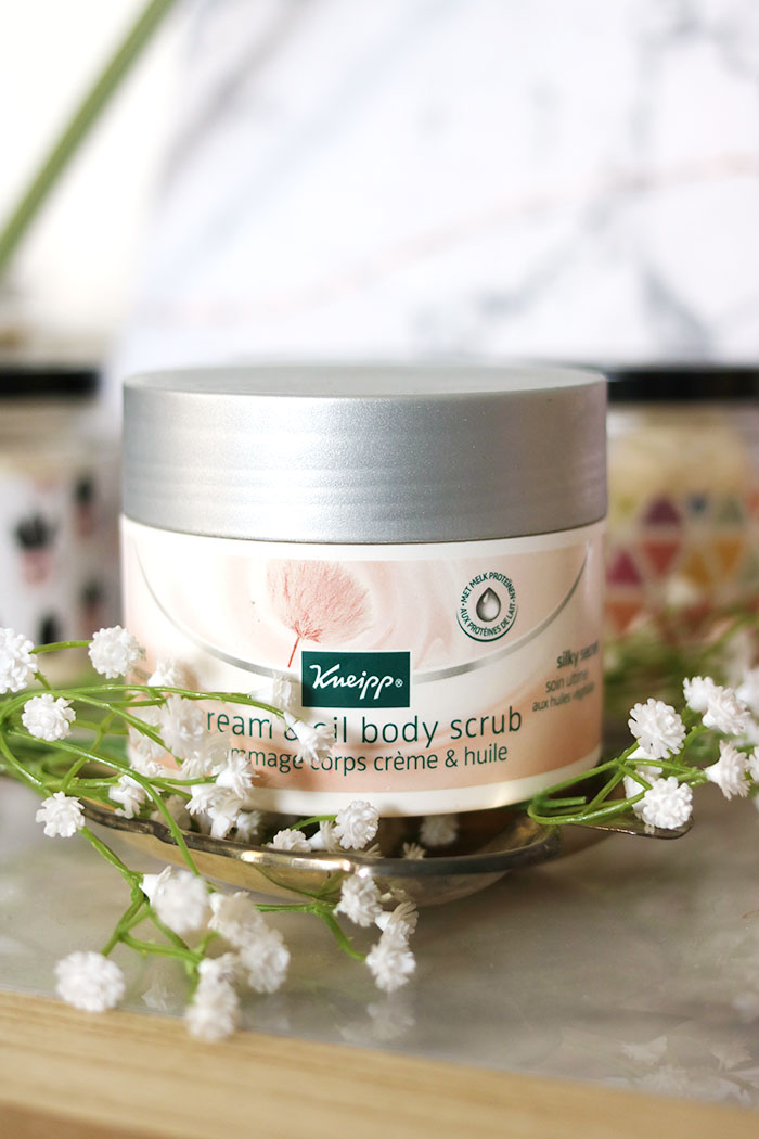kneipp cream & oil body scrub pinterest
