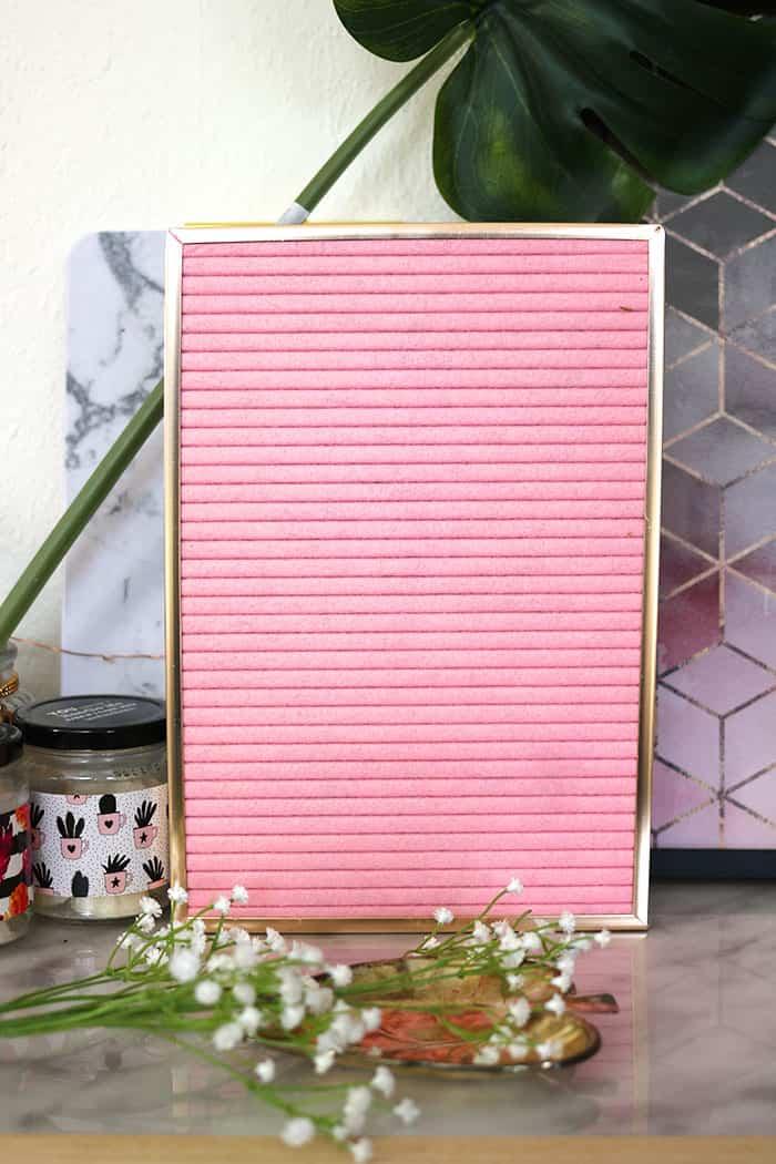 vilten letterboard roze