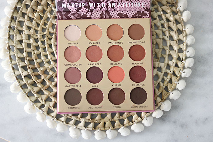 rude cosmetics romantic nights palette the lingerie collection colours