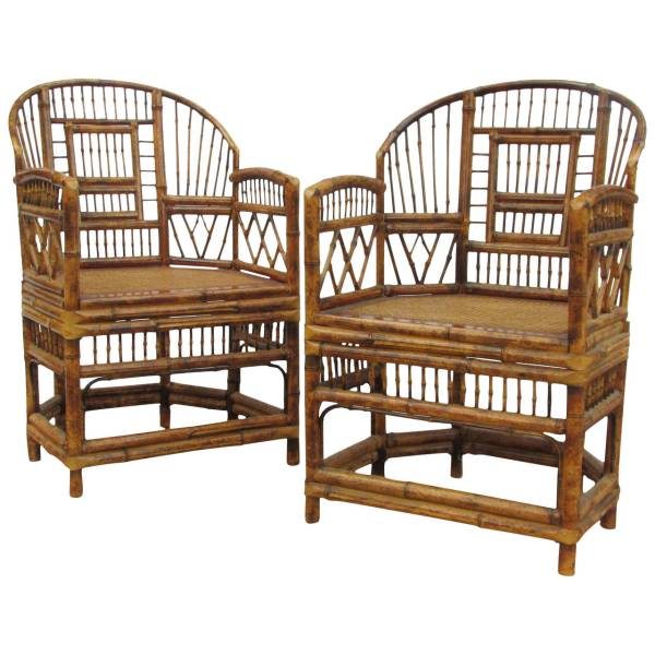 Chinese Chippendale Bamboo Chairs Brighton Pavillion