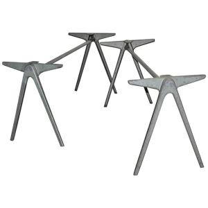 Aluminum Compass Tables in the style of Jean Prouve