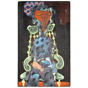 1940's Abstract Expressionist Painting of a Woman by Zoute'