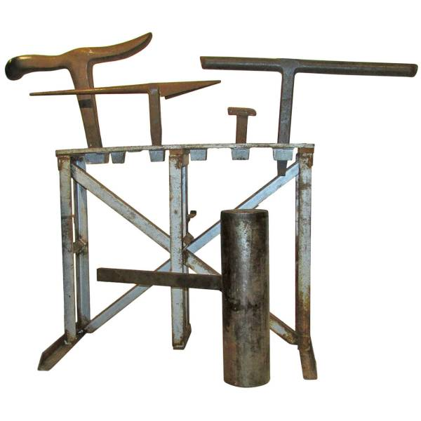 Antique Cast Iron Sculptor Anvils with Stand