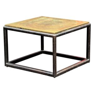 Asian Modern style Copper Top Coffee Table