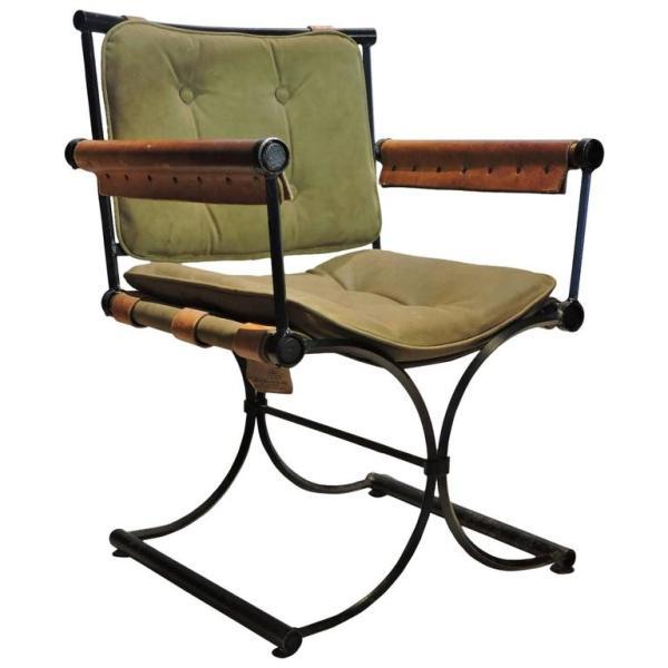 Cleo Baldon Iron & Leather Armchair