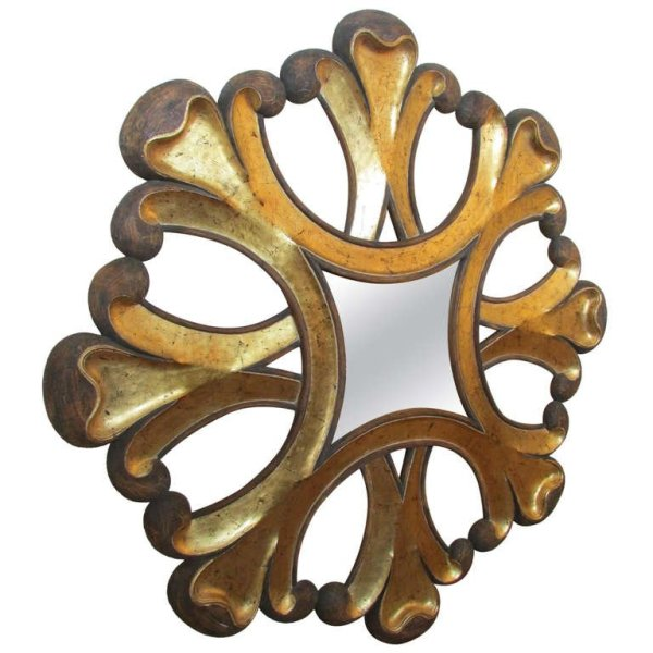 Rare Oversized Italian Baroque style Giltwood Sunburst Mirror