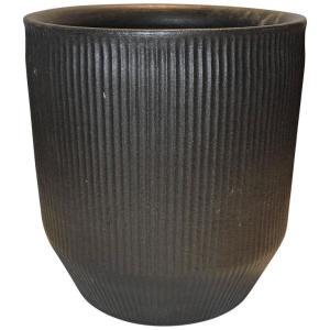 Graphite Black Architectural Pottery Planter
