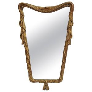 1940's Italian Giltwood Mirror by Osvaldo Borsani