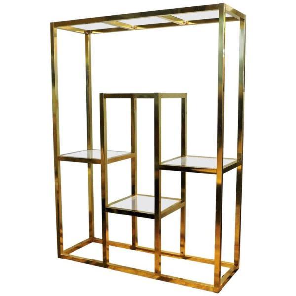 Brass Etagere style of Romeo Rega