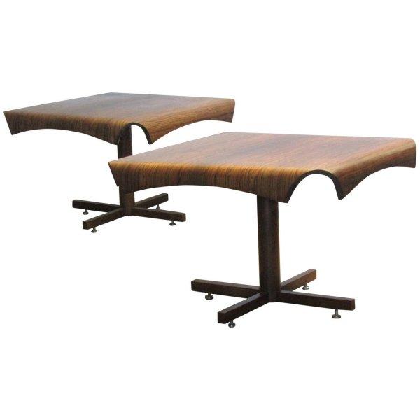 Brazilian Rosewod Side Tables