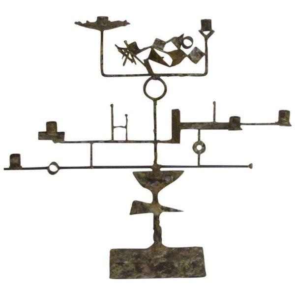 Abstract Brutalist Candelabra