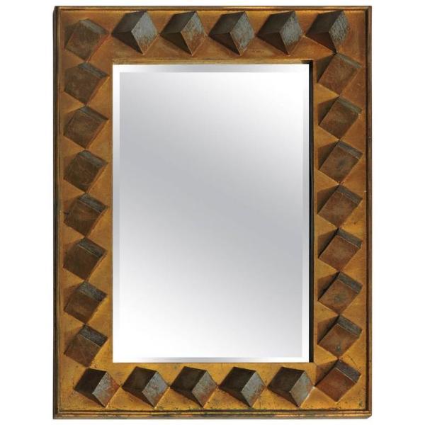 Gilt Resin Cubist Mirror