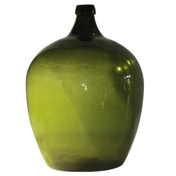 19th Century Emerald Green Demijohn