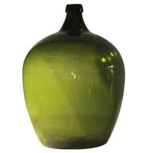 19th Century Emerald Green Demijohn