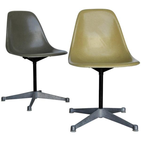 Eames for Herman Miller Fiberglass Swivel Chairs