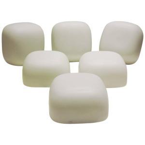 Modernist White Glass Flush Mount Lights