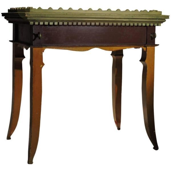 Antique American Folk Art Fraternal Table
