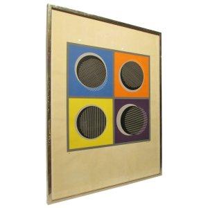 Rafael Franceschi - Serigraph Op Art - 55/75