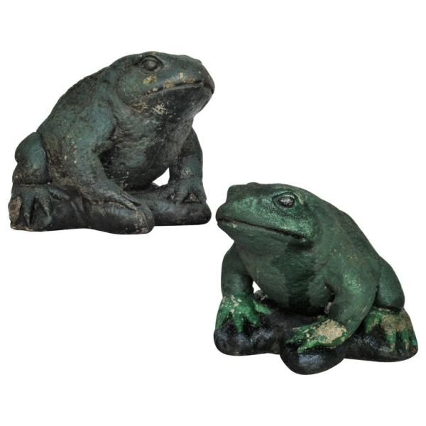 Large Old Stone Garden Toads