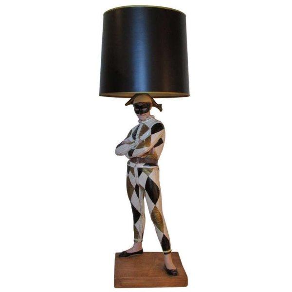 Harlequin Figure Lamp