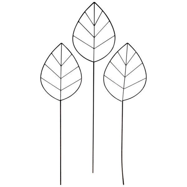 Tall Iron Leaf Tree Sculptures