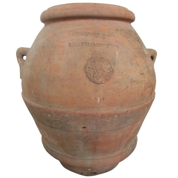 Enormous Antique Italian Terracotta Olive Oil Jar