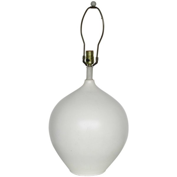 White Ceramic Lamp  in the style of Jean Michel Frank