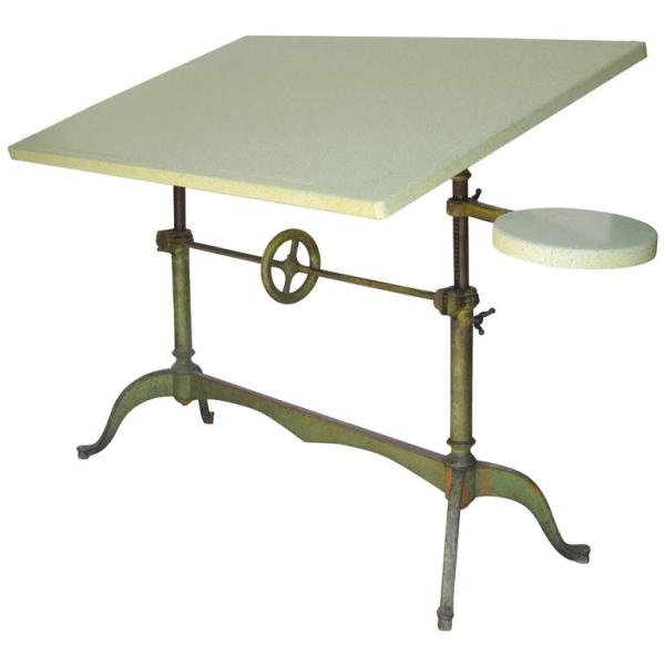 Early Keuffel & Esser Cast Iron Base Drafting Table