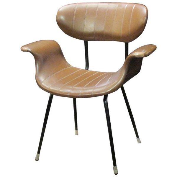 Italian Modernist Swan Form Chair by Mim Roma