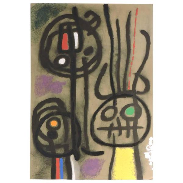 Joan Miro Pochoir 1959-1965