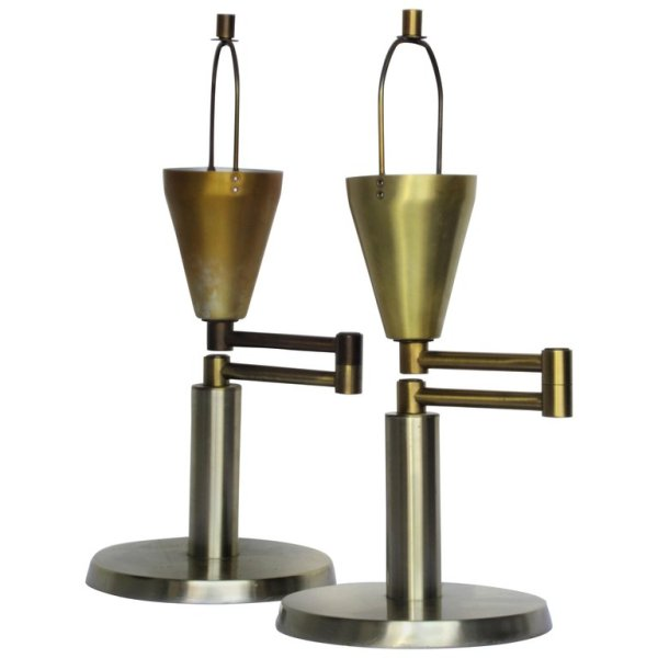 Walter Von Nessen Swing Arm Table Lamps