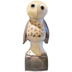 Scandinavian Pottery Owl Sculpture