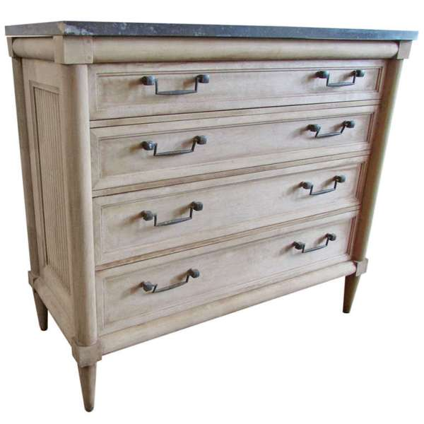 Regency style Commode in Bleached Surface