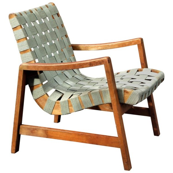 Early Jens Risom Armchair for Knoll 1940's
