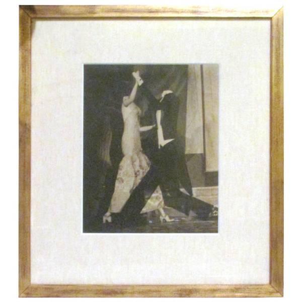 Old Surrealist Gelatin Photo of Dancing Mannequins